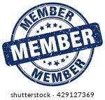member. stamp | Shutterstock .eps vector #429127369