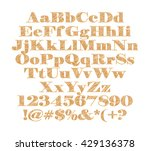 3d gold alphabets on isolated... | Shutterstock . vector #429136378