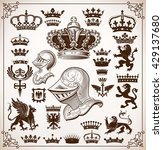 heraldry resources set | Shutterstock .eps vector #429137680