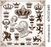 heraldry resources set | Shutterstock .eps vector #429137680