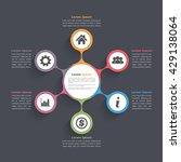 circle diagram infographics... | Shutterstock .eps vector #429138064