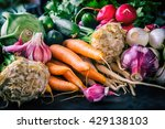 Assortment of fresh vegetables. ...