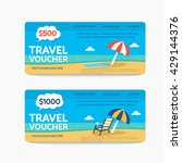 a gift travel voucher. vector... | Shutterstock .eps vector #429144376