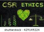 ethics. csr. corporate social... | Shutterstock . vector #429149224