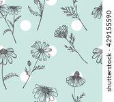 chamomile seamless pattern. | Shutterstock .eps vector #429155590