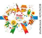 festa junina village festival... | Shutterstock .eps vector #429156238