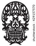 tattoo skull illustration in... | Shutterstock .eps vector #429157570