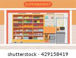 supermarket building and... | Shutterstock .eps vector #429158419