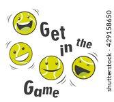 bouncing tennis balls and text... | Shutterstock .eps vector #429158650