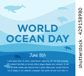 world ocean day campaign. world ... | Shutterstock .eps vector #429158980