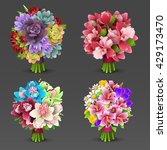 flowers bouquet set | Shutterstock .eps vector #429173470