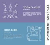 collection of yoga banners.... | Shutterstock .eps vector #429177166