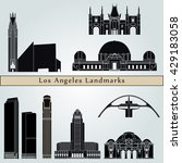 los angeles  landmarks and... | Shutterstock .eps vector #429183058