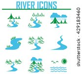 river and landscape icons | Shutterstock .eps vector #429183460