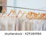 white wedding dresses on... | Shutterstock . vector #429184984