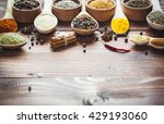 beautiful colorful spices in... | Shutterstock . vector #429193060