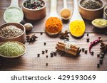 beautiful colorful spices in... | Shutterstock . vector #429193069