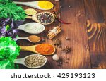 beautiful colorful spices in... | Shutterstock . vector #429193123