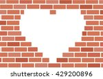 Wall Of Bricks And Heart Space...