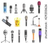 microphone set design flat... | Shutterstock .eps vector #429203626