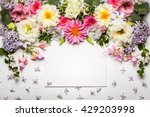 festive flower composition with ... | Shutterstock . vector #429203998