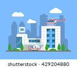 modern hospital building with... | Shutterstock .eps vector #429204880