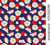 vector seamless sakura pattern. ...   Shutterstock .eps vector #429205198