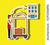 hotel service design  | Shutterstock .eps vector #429206896