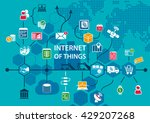 internet of things iot... | Shutterstock .eps vector #429207268