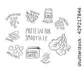 illustration of nuts  greens... | Shutterstock .eps vector #429217846