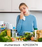 miserable girl in jersey... | Shutterstock . vector #429220474