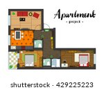 apartment project with... | Shutterstock .eps vector #429225223