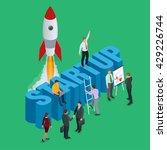 start up business concept. ... | Shutterstock .eps vector #429226744