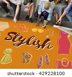 fashion apparel garment design... | Shutterstock . vector #429228100