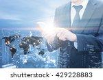 double exposure of businessman...   Shutterstock . vector #429228883