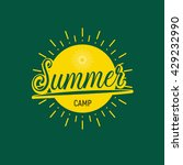 summer camp badge label... | Shutterstock .eps vector #429232990