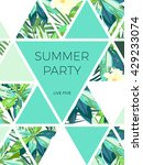 bright hawaiian design with... | Shutterstock .eps vector #429233074