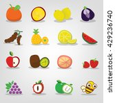 fruit icons set  set of... | Shutterstock .eps vector #429236740