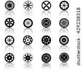 car wheel icons | Shutterstock .eps vector #429238318