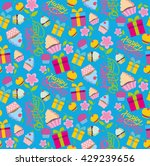 happy birthday pattern with... | Shutterstock .eps vector #429239656
