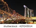 marina bay sands in singapore | Shutterstock . vector #429245014