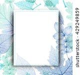 leaf blue background. vector ... | Shutterstock .eps vector #429249859