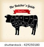 beef cuts vector illustration | Shutterstock .eps vector #429250180