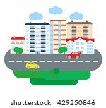 city life business in flat... | Shutterstock .eps vector #429250846