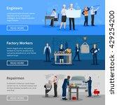 engineers at work factory... | Shutterstock .eps vector #429254200