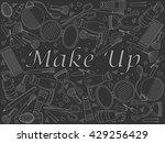 raster line art doodle set of...   Shutterstock . vector #429256429