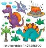 dinosaur topic set 2   eps10... | Shutterstock .eps vector #429256900