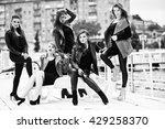 five beautiful young girls... | Shutterstock . vector #429258370