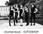 five beautiful young sexy girls ... | Shutterstock . vector #429258409