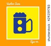 beer glass or mug icon. eps 10. | Shutterstock .eps vector #429259783